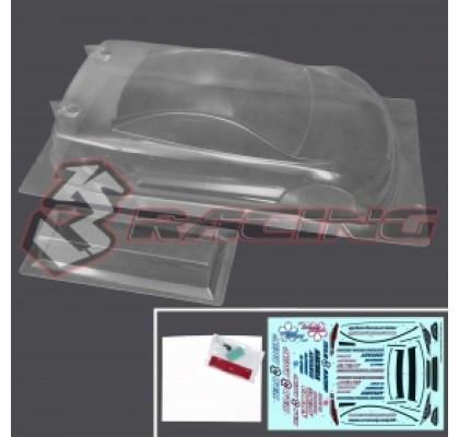 1/10 Ultra Light-weight Touring Car Body Ver.4 - Volume tc 0.7mm w/ 1mm Hard Rear Wing