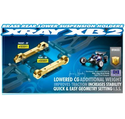Brass Rear Lower Suspension Holder - (RF)