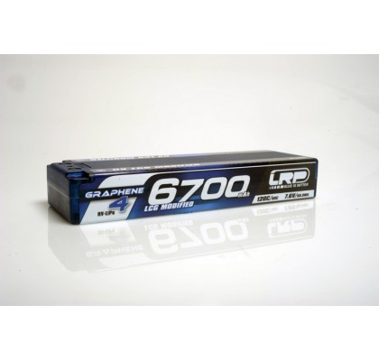 HV LCG Modified GRAPHENE-4 6700mAh Hardcase battery - 7.6V LiPo - 120C/60C - 274g