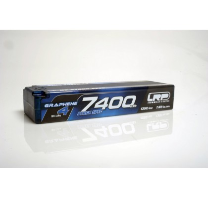 HV Stock Spec GRAPHENE-4 7400mAh Hardcase battery - 7.6V LiPo - 135C/65C - 302g