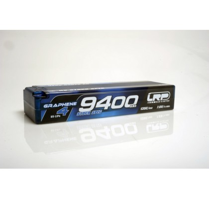HV Stock Spec GRAPHENE-4 9400mAh Hardcase battery - 7.6V LiPo - 135C/65C - 336g