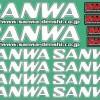 SANWA DECAL WHITE