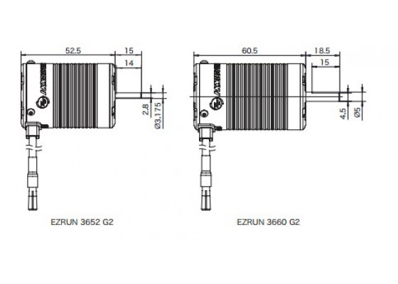 Ezrun Sensörsüz 3300kv 3652 Sensörsüz Motor (3,175 Şaft Kalınlığı)