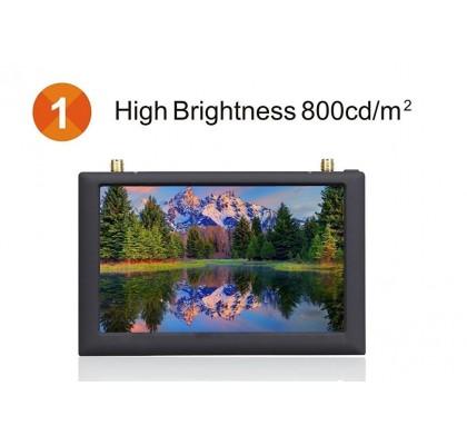 FPV Monitör FX508 5 Inç 5.8G 40 Kanal HD TFT AV Diversity Alıcı Monitör DVR LCD
