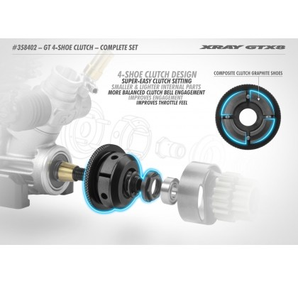 GT 4-Shoe Clutch - Complete Set