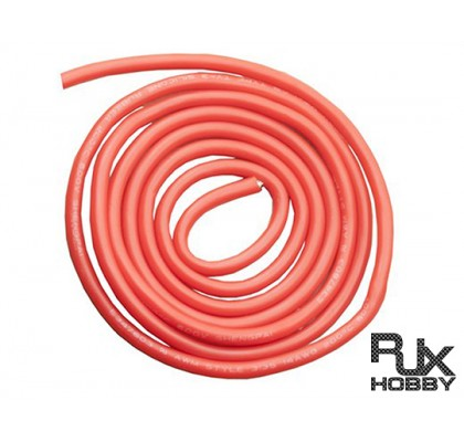 20 AWG Silver Silicone Wire Red 5mt