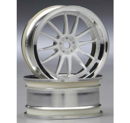 WORK XSA 02C 26MM CHROME/WHITE(3MM OFFSET)