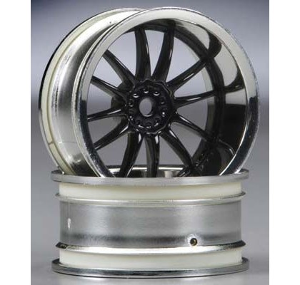 Work XSA 02C Wheel 26mm Chrome/Black 6mm Offset
