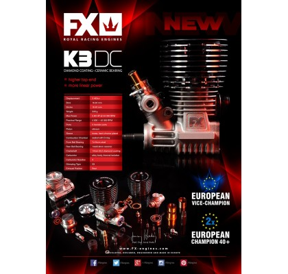 K301 European Champion - COMBO: ENGINE + #659503 MUFFLER 2131 + #659704 MANIFOLD M