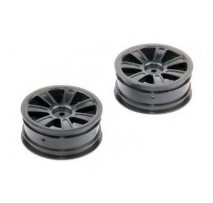 LRP Spoke Wheel Front Black (2 pcs) - S10 Twister