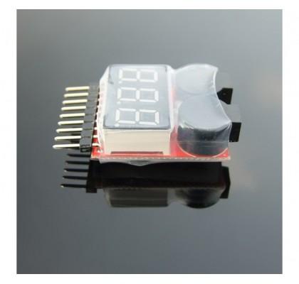 1S-8S Lipo-Li-ion Voltaj Test ve Alarm-Buzzer