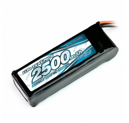 IMPACT FD LiPo Battery 2500mAh 7.4V 4C Flat Size for Tx & Rx