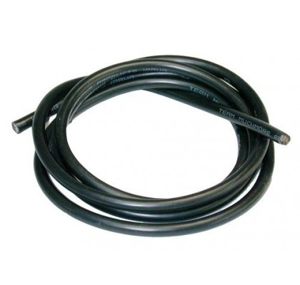16AWG Silver Wire Black Cable 90cm
