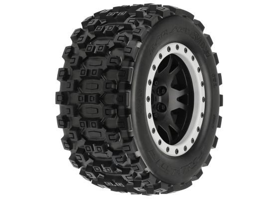 1/5 Badlands MX43 Pro-Loc F/R X-MAXX Montajlı 24mm Siyah Gri Lastik Seti (1 Cift)