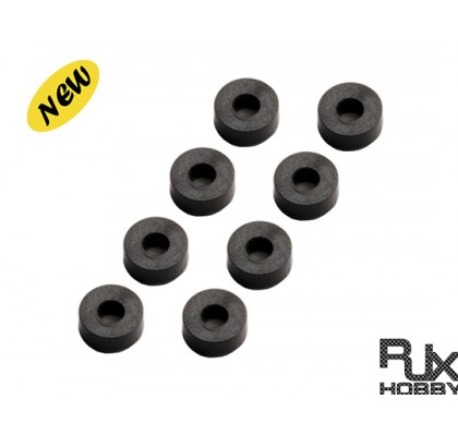 Nylon rubber 3x7x3 X8PCS