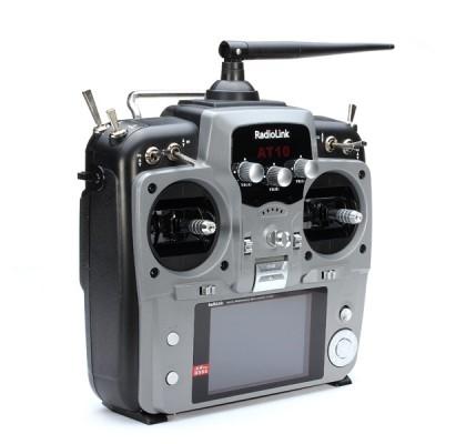 AT10II 2.4G Uçak Kumandası 12CH Kumanda ve R12DS Alıcılı Silver Renk