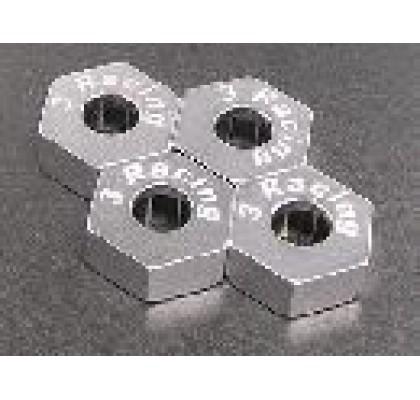 Revo için Metal Gümüş Teker Adaptörü 17mm