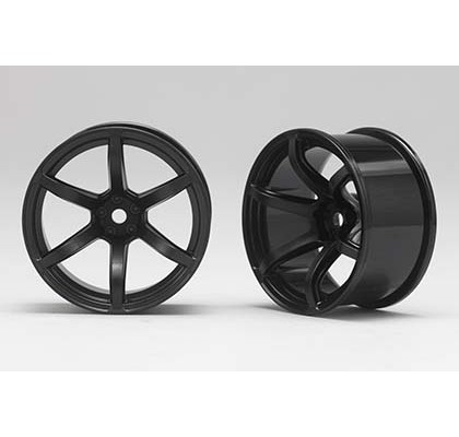 6 Spoke Black 6mm Offset Wheel (1 Pair)