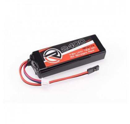 2400mAh 7.6V LiHV RX Straight Pack