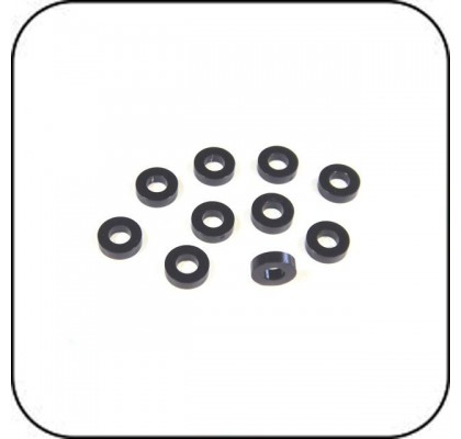 6x3x1.75mm Spacer (Black) x 10