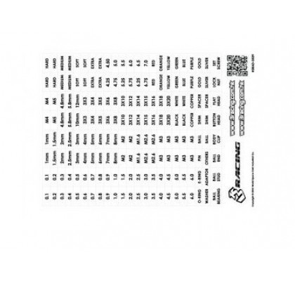 STICKER 3Racing Numbers and Text Label (Transparent/Black)