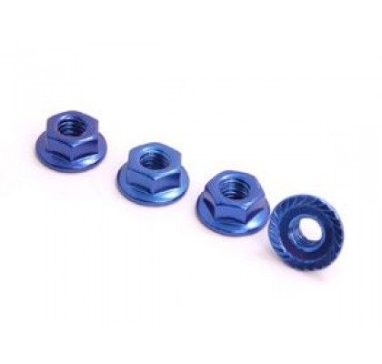 4MM ALUMINUM LOCK NUT BLUE
