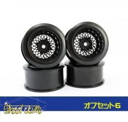MESH BLACK WHEEL 6MM OFFSET