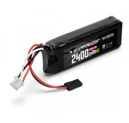 2400mAh 7.4V 5C LiPo RX Düz Alıcı Pili