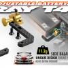 T4 Graphite + Brass Fully Adjustable Battery Holder