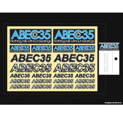 CHROME ABEC35 DECAL