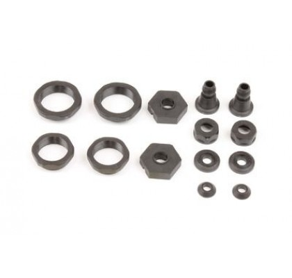 PLASTIC SHOCK COLLARS,14mm HEXES & SHOCK STAND OFF SET