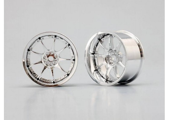 Weds Sports SA-70TT 9 Spoke Chrome 8mm Offset Wheel (1 Pair)