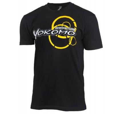 Yokomo Team T-shirt (X Large) (Black)